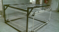 Pipe system combined with metal frame system